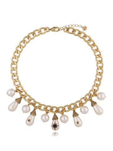 Naszyjnik antyczne złoto z perłami NRG0310