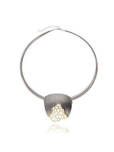 Naszyjnik ze srebra i tytanu pozłacany NLE0016