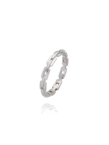 Pierścionek srebrny ze stali szlachetnej PSA0016 Rozmiar 15