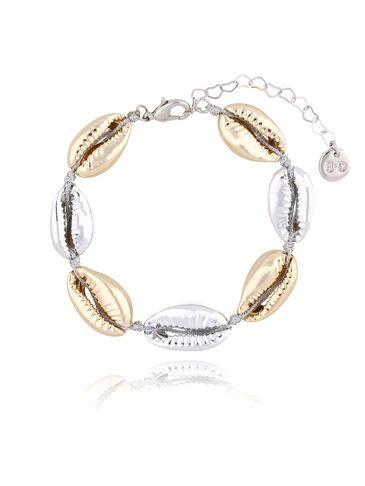 Bransoletka ze srebrnymi i złotymi muszelkami Ocean Vibes BOV0071