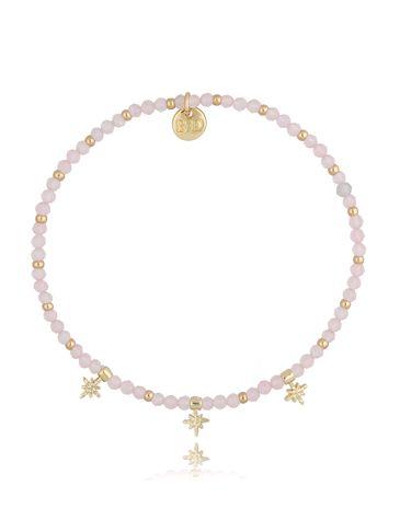 Bransoletka z kwarcem różowym BSC0844