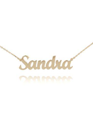 Naszyjnik srebrny pozłacany SANDRA NAT0130