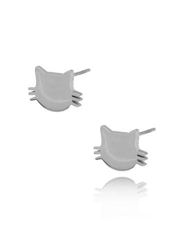 Kolczyki srebrne kotki ze stali szlachetnej KPS0001