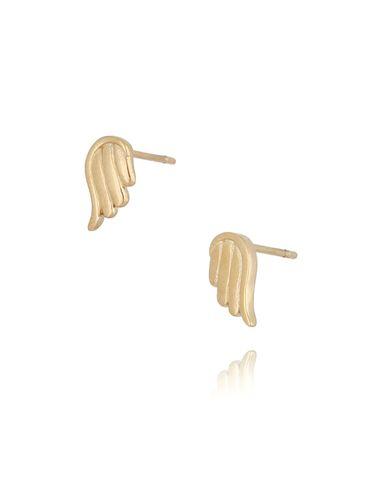 Kolczyki złote skrzydełka ze stali szlachetnej KSA0103