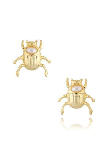 Kolczyki złote z żukami Gold Beetle KMI0179