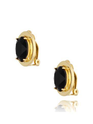 Klipsy z czarnymi kryształkami KTO0009