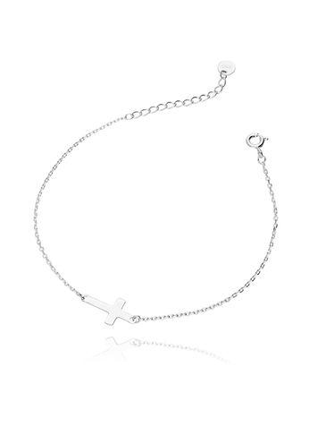 Bransoletka srebrna krzyżyk BBT0018