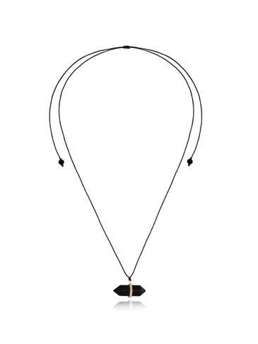 Naszyjnik z czarnym agatem NPA0363
