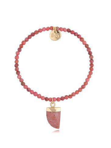 Bransoletka z jaspisem różowym Kiss BPA0107