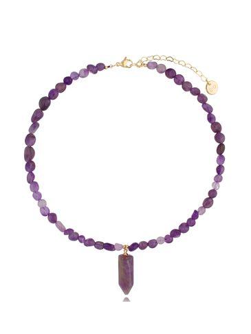 Naszyjnik z ametystami Pure Violet NPA0414