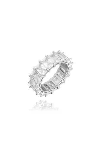 Pierścionek srebrny z kryształkami PRG0139 Rozmiar 21