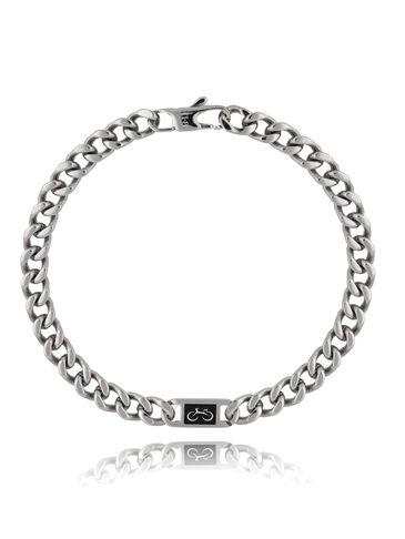 Bransoletka srebrna ze stali szlachetnej Biker BMITC0292