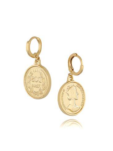 Kolczyki złote monety KRG0493