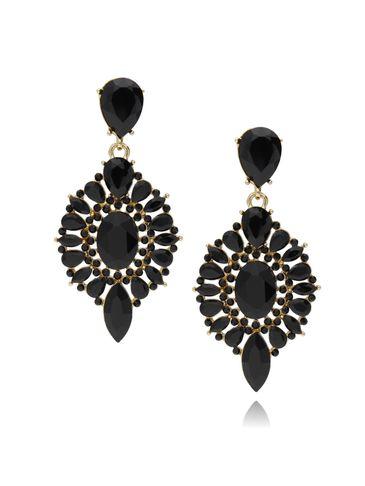 Kolczyki kryształowe czarne KSS0772