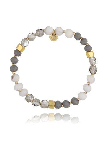 Bransoletka z kryształkami beżowa BSC0820