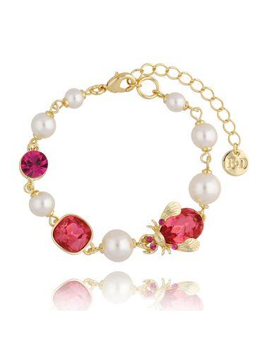 Bransoletka z perłami i owadem BMI0078