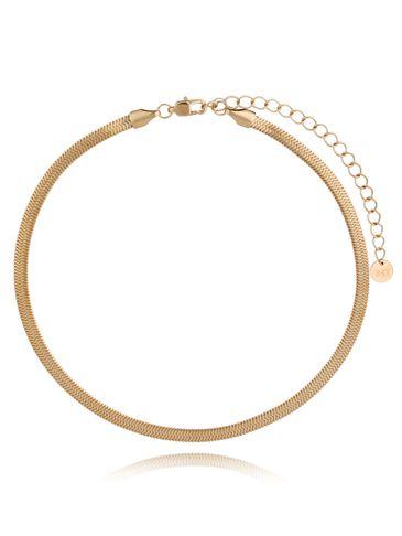 Naszyjnik złota żmijka stali szlachetnej NSA0176 30 cm