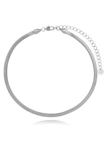 Naszyjnik srebrna żmijka stali szlachetnej NSA0175 30 cm
