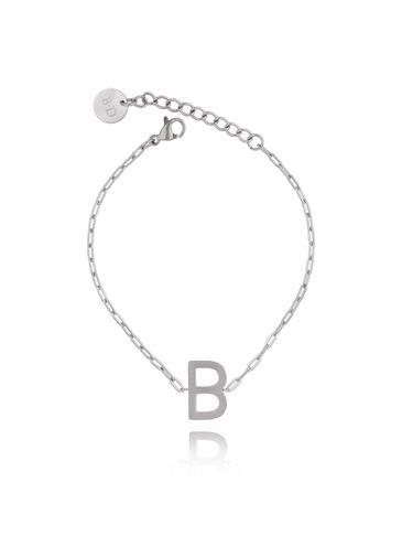 Bransoletka srebrna z literką B BAT0089