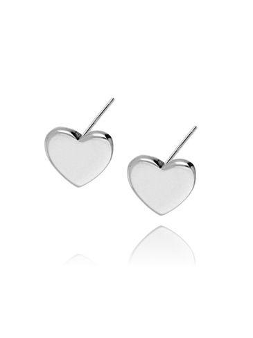 Kolczyki srebrne serca KFA0005