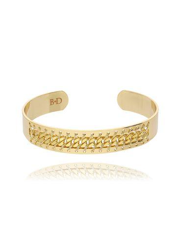 Bransoletka obręcz złota z nicią BNE0035