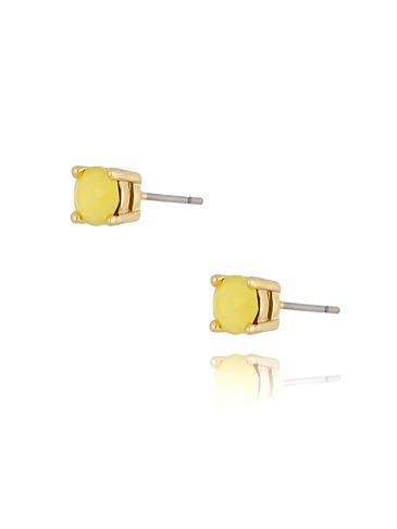 Kolczyki kryształki żółte Dot KRG0721