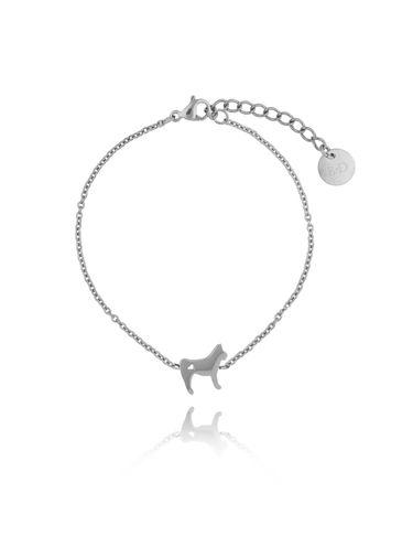 Bransoletka srebrna pies Rocky ze stali szlachetnej BPS0003