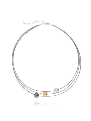 Naszyjnik srebrny z kuleczkami pozłacany NLE0017