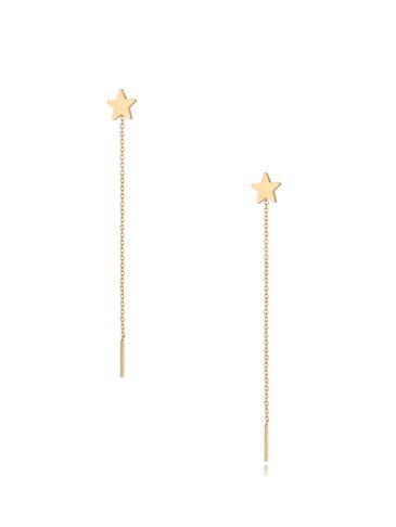 Kolczyki złote wiszące Long Star KSA0303