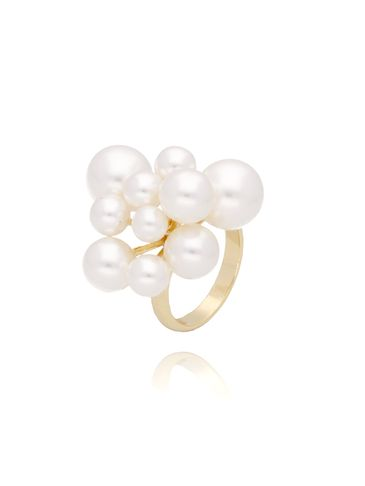 Pierścionek złoty z perłami PPE0025 rozmiar 20