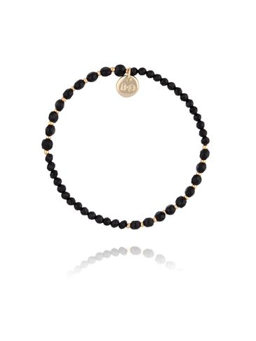 Bransoletka z czarnymi kryształkami BTW0241