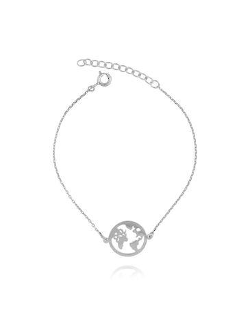 Bransoletka srebrna  z planetą BSE0088
