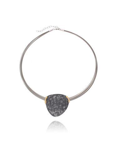 Naszyjnik hematytowo srebrny z tytanu NLE0009