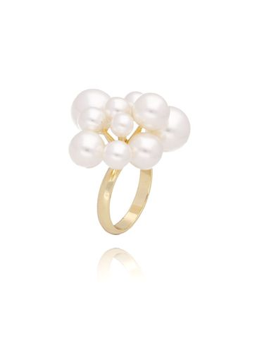 Pierścionek złoty z perłami PPE0033 rozmiar 17