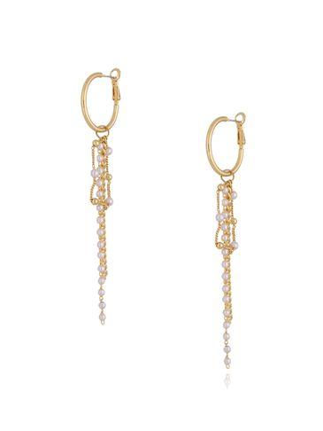 Kolczyki złote z perełkami KRG0610