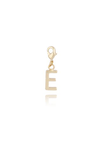Charms złoty literką E NAT0172