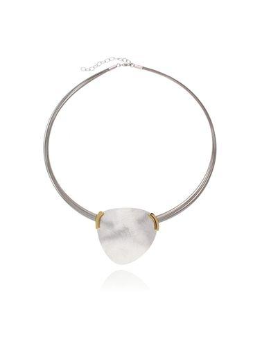 Naszyjnik srebrny szczotkowany NLE0014