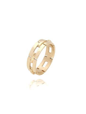 Pierścionek złoty ze stali szlachetnej PSA0121 Rozmiar 10