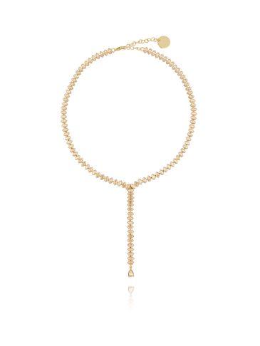 Naszyjnik  złoty ze złotymi kryształami  NS0011