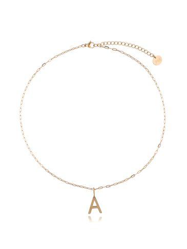 Naszyjnik złoty z literką A NAT0205