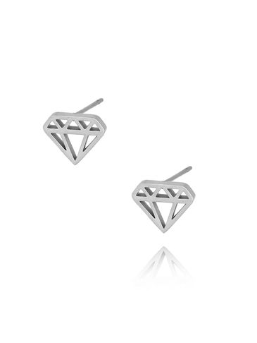 Kolczyki srebrne diamenty ze stali szlachetnej KSA0089
