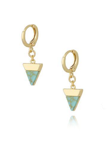 Kolczyki turkusowe trójkąty KRG0588