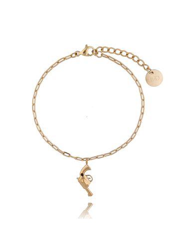 Bransoletka złota z rewolwerem ze stali szlachetnej BSA0100