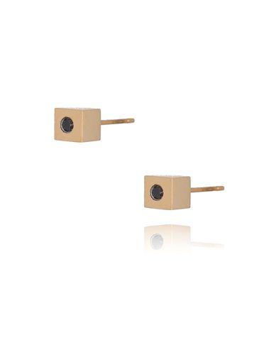 Kolczyki złote kostki ze stali szlachetnej KSA0116