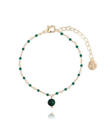 Bransoletka z kryształkami i zielonym tygrysim okiem BOA0013