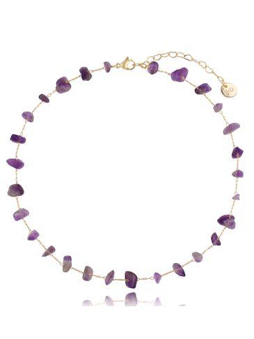 Naszyjnik łańcuszkowy z ametystami Violet Orchid NPA0409