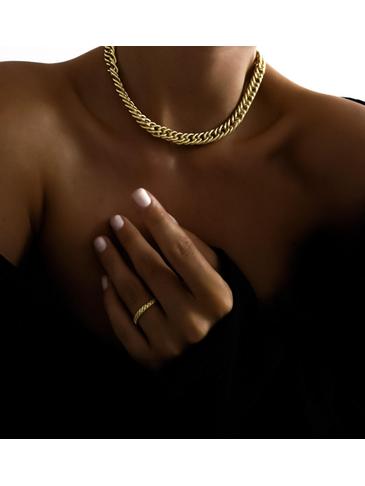 Naszyjnik złoty gruby łańcuch NRG0145