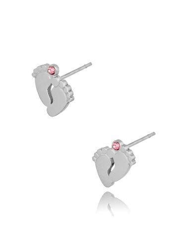 Kolczyki srebrne stópki ze stali szlachetnej GIRL KSA0251
