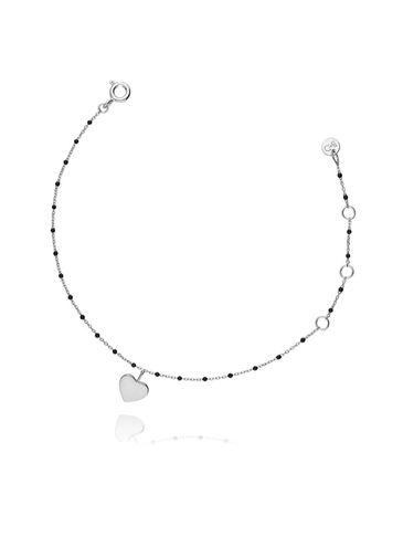 Bransoletka srebrna z sercem BFA0016