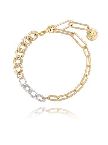 Bransoletka złoto srebrny łańcuch BSL0010